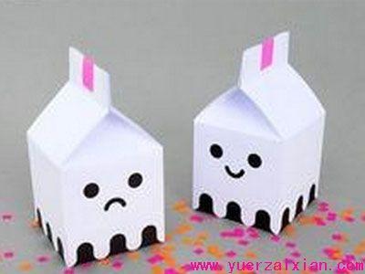 幼儿园幼儿手工废旧利用制作:小房子
