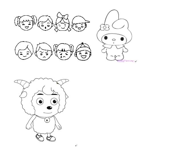 儿童简笔画图片大全 小朋友和动物组图