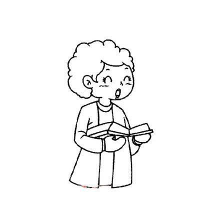 幼儿园人物简笔画老师(2)