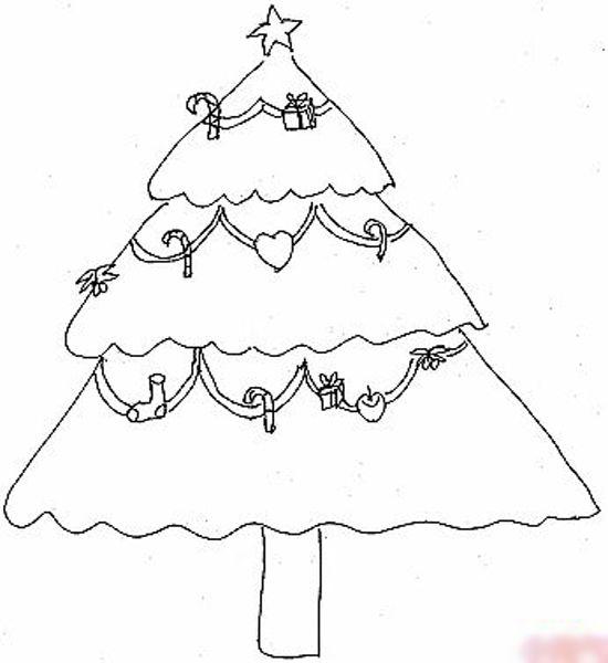 幼儿简笔画大全:圣诞树(3)