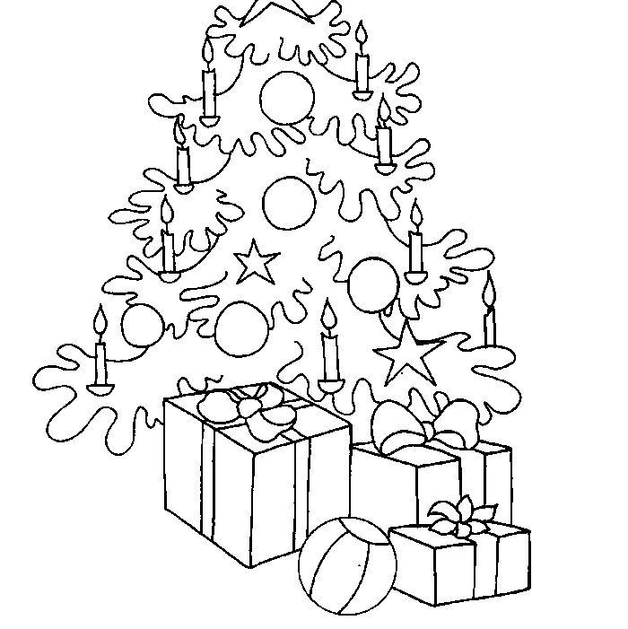 幼儿简笔画大全:圣诞树(4)