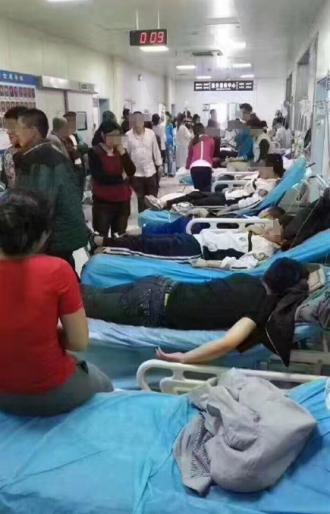 扶余第二实验学校的学生入院接受治疗。(图片来自网络)